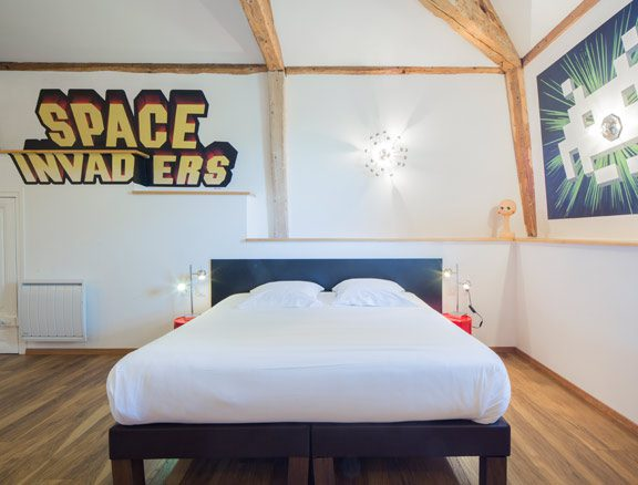 Chambre Space Invaders Maison Vintage