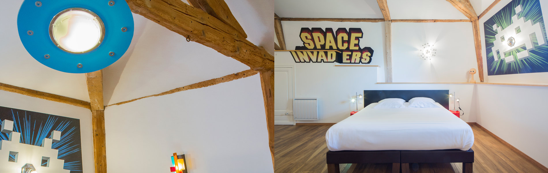Chambre Space Invaders - Maison Vintage